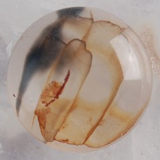 KA-110  Dragon Veins Agate Round (16x5mm)