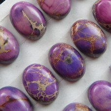 KA-14  Purple Sea Sediment Jasper CAB (14x10x6mm),1vnt.