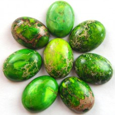 KA-19 Green Sea Sediment Jasper oval  (20x15x6mm),1vnt.