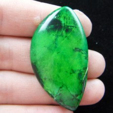 KA-70 Green Sea Sediment Jasper  (45x25x5mm),1vnt.