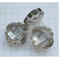 NF-14 Grey Crystal Quartz  (18x18mm),1vnt.