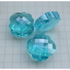 NF-15 Blue Crystal Quartz  (18x18mm),1vnt.