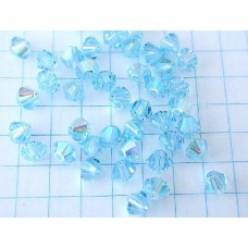 SW-12 Aquamarine  AB (4mm),1 vnt.